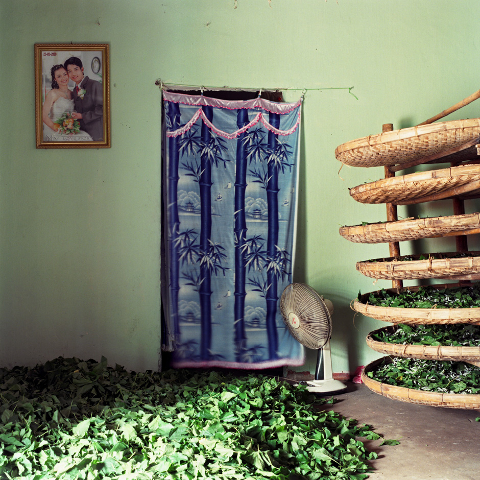 Vietnam - Craft villages - Interior of a home in Chi Dong silkworm rearing village